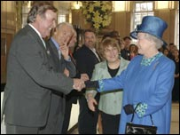 Sir Terry Wogan meeting The Queen
