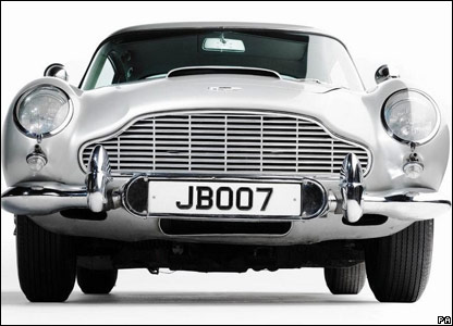 Aston Martin DB5 driven by Sean Connery