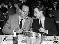 Paris Mayor Jacques Chirac (left) with Nicolas Sarkozy in 1981