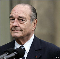 Jacques Chirac in February 2007