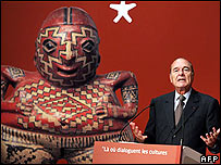Jacques Chirac opens the new museum
