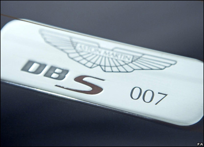 Badge from the Aston Martin used for Casino Royale