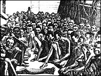 Slaves on a slave ship