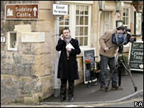 Press in Liz's Gloucestershire village