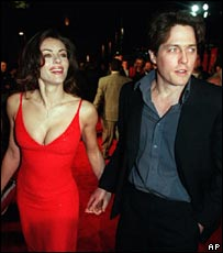 With Hugh Grant in 1999