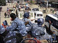 Troops in south-western town of Nepalgunj