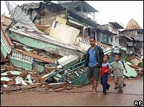 Survivors from the March 2005 earthquake