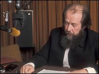 Александр Солженицын в студии Би-би-си
