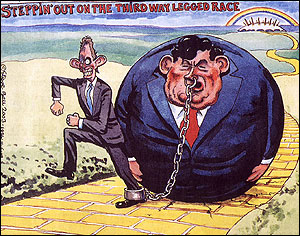 Steppin out on the third way legged race � Steve Bell