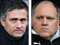 Jose Mourinho and Martin Jol