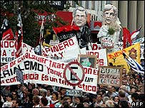 Anti-Bush protest in Montevideo