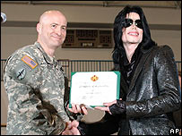 Michael Jackson and Col Robert M Waltemeyer