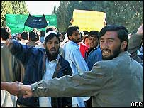 Students demonstrated in Jalalabad.