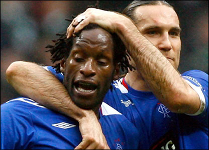 Ugo Ehiogu celebrates with Dado Prso