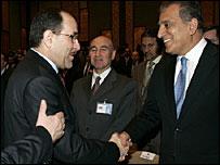 Nuri al-Maliki and Zalmay Khalilzad
