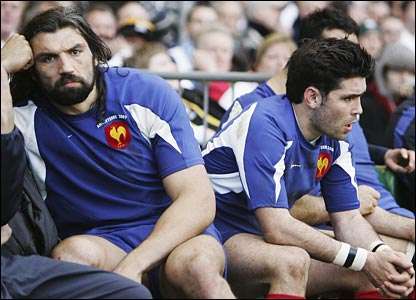 Disappointed French players