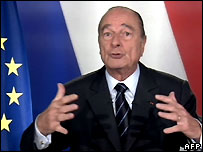 Mr Chirac gives an address to the nation