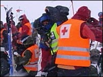 Rescue teams in Norway