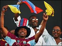 Fans celebrate in Montego Bay