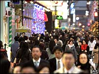 Shoppers in Japan