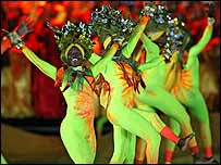 The costumes worn by the performers reflected all the colours of the Caribbean
