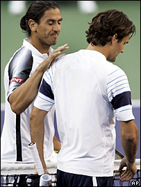 Roger Federer and Guillermo Canas