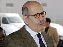 Mohamed ElBaradei in China on 12 March 2007