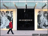 Burberry shop front in China