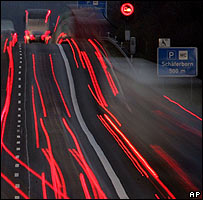 Lights on German Autobahn