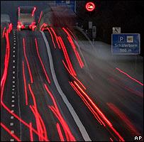 Lights on German Autobahn