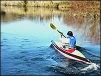 Dr Sylvester kayaking