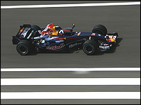 David Coulthard in his Red Bull-Renault during winter testing