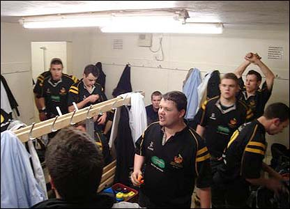 David Miles's photo shows Burgess Hill RFC's captain delivering a rousing pre-match speech