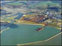 Ariel view of planned site in Port Talbot
