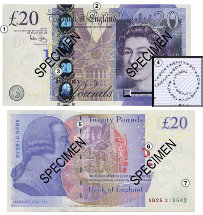 The new Adam Smith �20 note