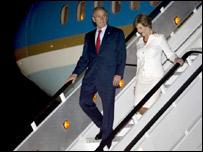 El presidente Bush y la primera dama llegaron a México