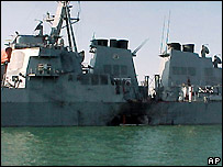 USS Cole after attack, October 2000