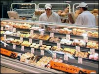 An in-store bakery at Sainsbury's