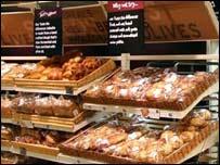 Sainsbury's bread counter