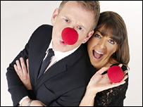 Patrick Kielty and Claudia Winkleman