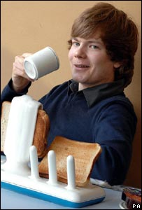 George Watson with his toaster