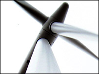 Wind turbine - courtesy Npower