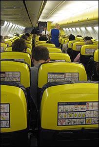 Inside Ryanair plane