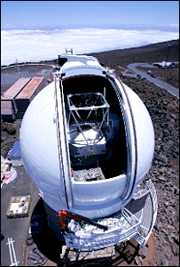 The Pan STARRS telescope building in Hawaii
