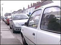 Cars parked in Canton, Cardiff
