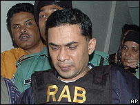 Tarique Rahman outside the court