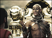The Persian king Xerxes in 300