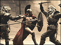 Scene from the movie 300