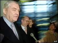 Lord Conrad Black and reporters