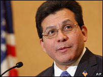 US Attorney General Alberto Gonzales